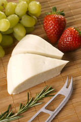 Goat cheese with strawberry and grape