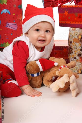 erstauntes baby weihnachten stockfotos und lizenzfreie. Black Bedroom Furniture Sets. Home Design Ideas