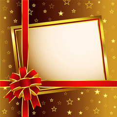 Golden frame and Red Bow