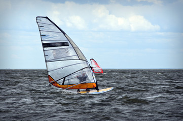 Windsurfing event in Baltic sea
