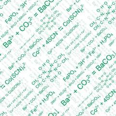 Green chemistry. Seamlessly wallpaper on white
