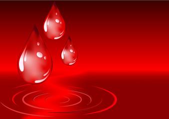 Blood rain drops