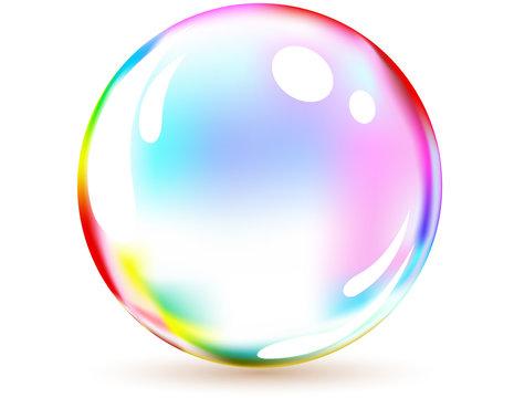 Vector of multicolored bubble