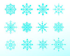 set of snowflake / vector illustration