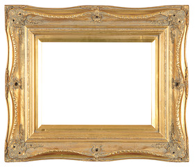 isolated decorative bronze frame