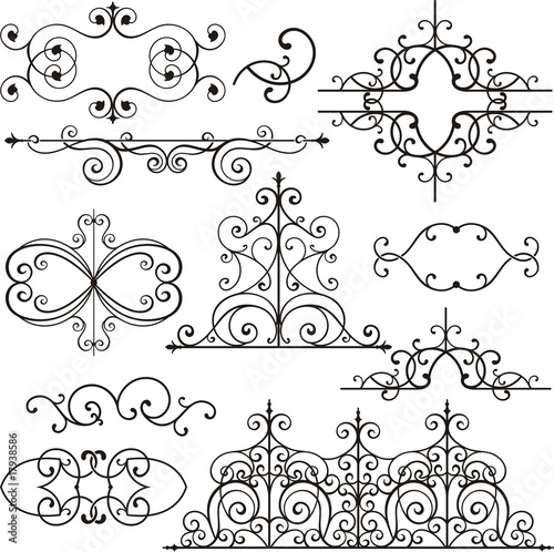 Wrought iron ornamental designs stock image and royalty for Imag fer forget argenteuil