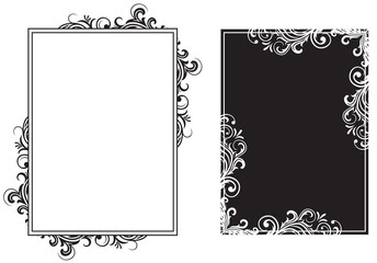 White and black frames
