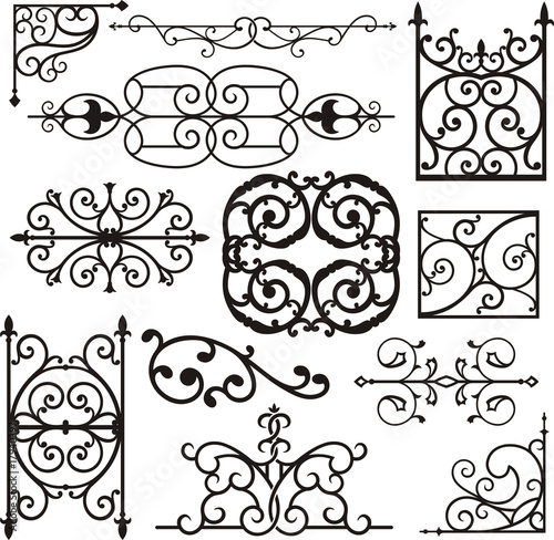 """""""Wrought Iron Ornamental Designs"""" Stock Image And Royalty"""