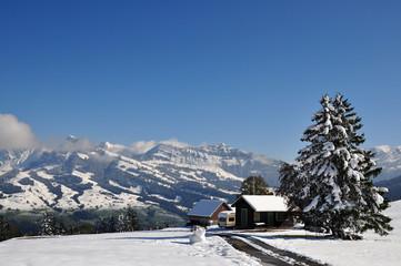 Appenzeller Land im Winter, Schweiz Wall mural