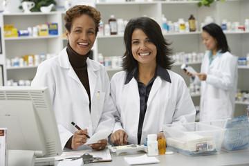 Portrait of female pharmacists in pharmacy