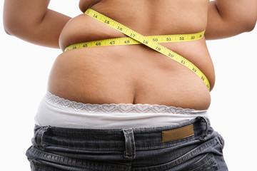 Back side of fat woman