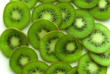 sliced kiwi on the plate
