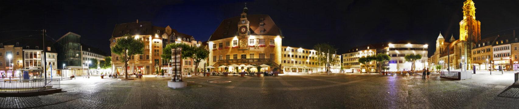 Panorama vom Heilbronner Marktplatz