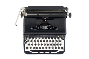 Black Antique Typewriter from Above