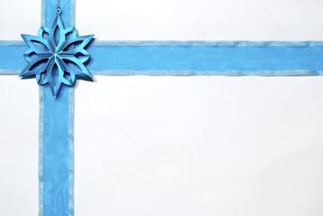 blue christmas ribbon border