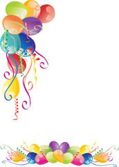 color balloons corner
