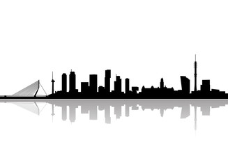 Photo Blinds Rotterdam rotterdam city skyline vector