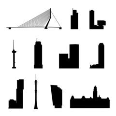 Wall Murals Rotterdam rotterdam landmarks isolated