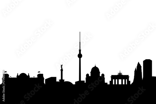 berlin city skyline with landmarks high quality stockfotos und lizenzfreie vektoren auf. Black Bedroom Furniture Sets. Home Design Ideas