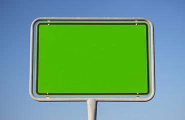 Schild in Grün