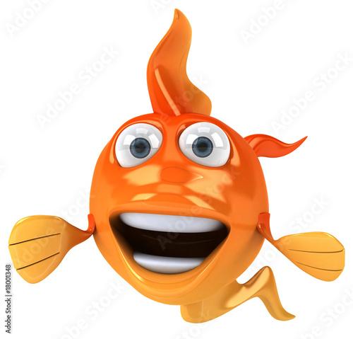 Poisson rouge pr sente photo libre de droits sur la for Tarif poisson rouge