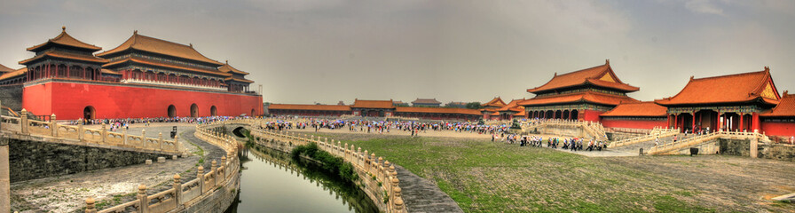 Foto op Plexiglas Beijing Awesome Forbidden City in Beijing (Peking) (Panorama)