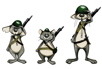 Armee, Soldaten, Soldat, Militär, Mäuse, Ratten, Krieg