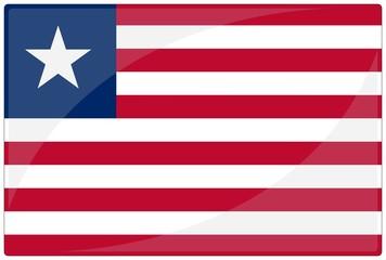 drapeau glassy liberia flag