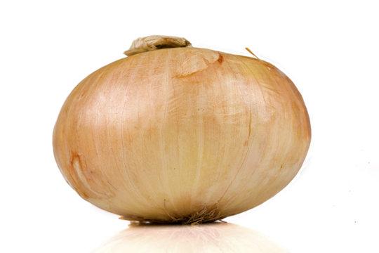 Vidalia sweet onion isolated on white