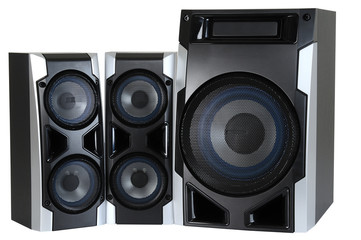 Speakers. Clipping path
