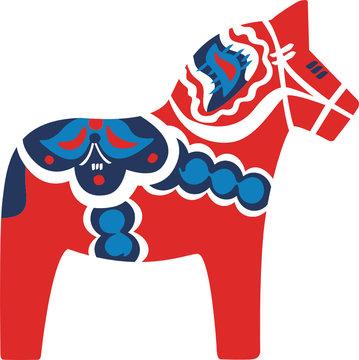 Dala-Pferd rot