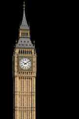 Big Ben Black Background
