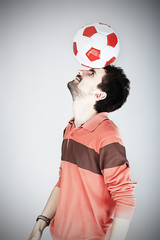 sportsman with a ball
