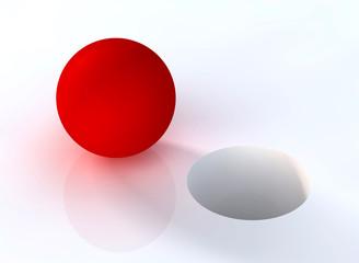 Rote Kugel und Loch