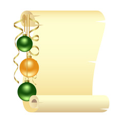Scroll with Christmas
