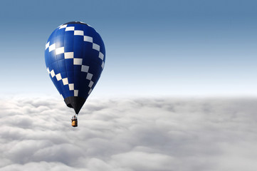 hot air balloon flying over the sky