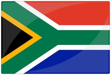 drapeau glassy afrique du sud south africa flag