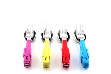 colorful silverware