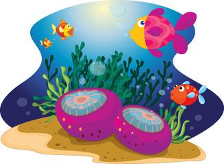 Wall Murals Submarine diverse fish