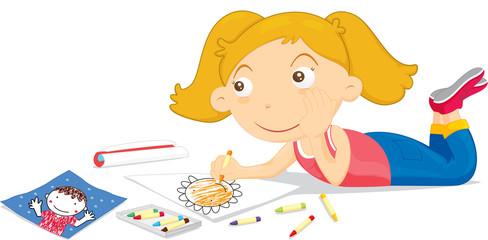 drawing blonde