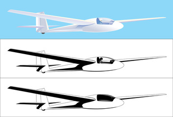 Glider black and color