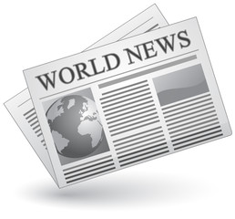 Global news concept. Vector illustration of world news icon.