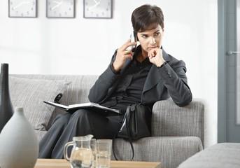 Businesswoman waiting