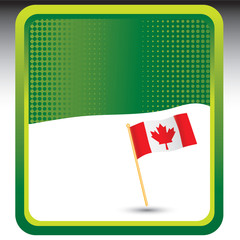 Canadian flag on green background