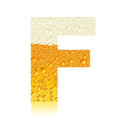 alphabet beer F