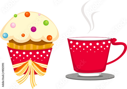Clip Art Cake And Coffee :