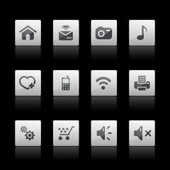 Multimedia web icons, Black series