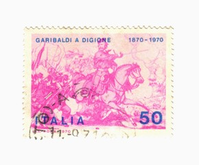 "italY post stamp, Garibaldi ""battle of Dijon"""
