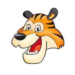 Funny tiger head