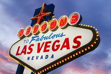 Fotobehang Las Vegas Fabulous Las Vegas Sign